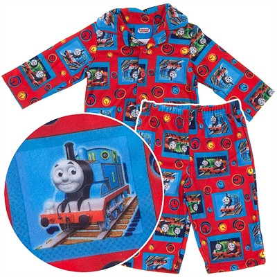Thomas the Tank Engine Red Coat-Style Pajamas for Infant Boys