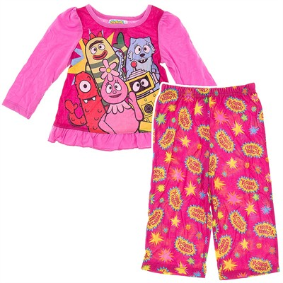Yo Gabba Gabba Pink Pajamas for Toddler Girls
