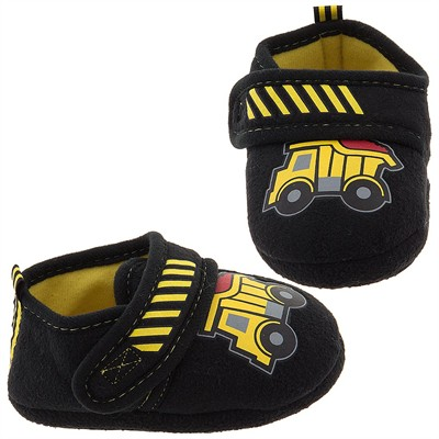 Construction Truck Slippers for Toddler Boys