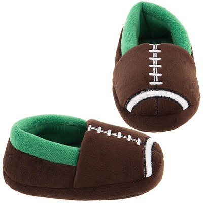 Football Slippers for Toddler Boys