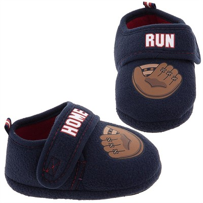 Home Run Base Ball Glove Slippers for Toddler Boys