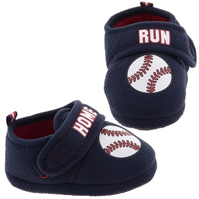 Home Run Base Ball Slippers for Toddler Boys