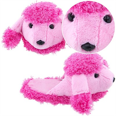 Dark Pink Poodle Slippers for Girls