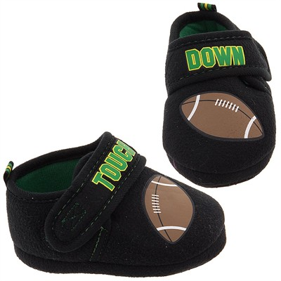 Touch Down Football Slippers for Toddler Boys