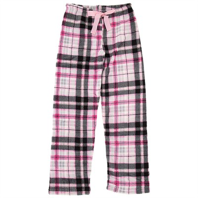 Plaid Plush Pajama Pants for Women