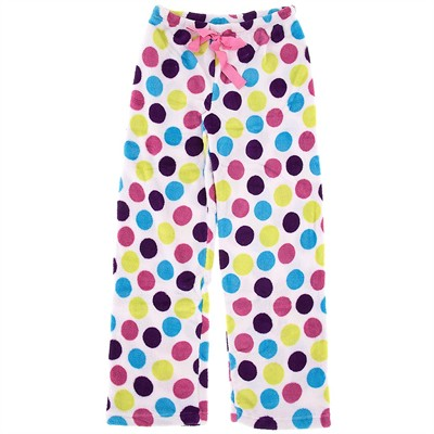 Polka Dot Plush Pajama Pants for Women