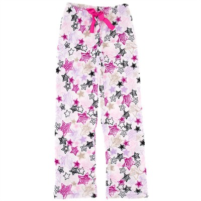 Star Print Plush Pajama Pants for Women