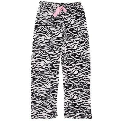 Zebra Plush Pajama Pants for Women