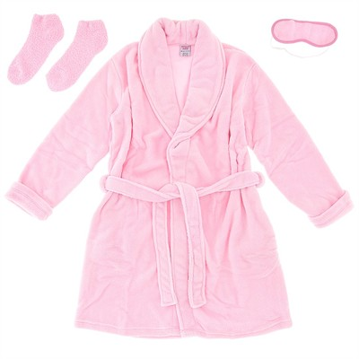 Pink Plush Bathrobe for Women
