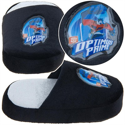 Transformers Black Optimus Prime Slippers for Toddler Boys