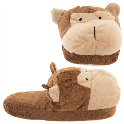 Brown Monkey Slip On Slippers for Women