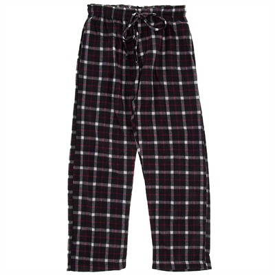 Black and Fuschia Fleece Pajama Pants for Men