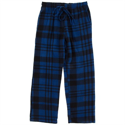 Blue Fleece Pajama Pants for Men