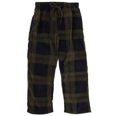 Green Fleece Pajama Pants for Men