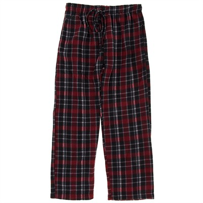 Red Fleece Pajama Pants for Men