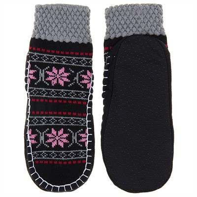 Snowflake Knit Slipper Socks for Women