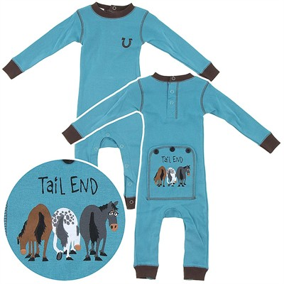 Lazy One Tail End Horse Union Suit for Kids