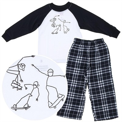 Wes and Willy Skate Boarder Pajamas for Boys