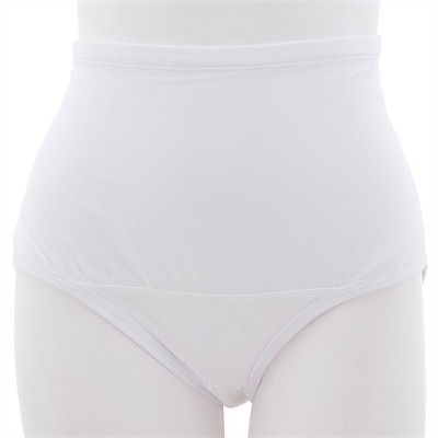 White Hi Cut Smooth Control Brief for Women