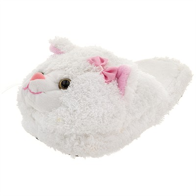 White Cat Slippers for Toddler Girls