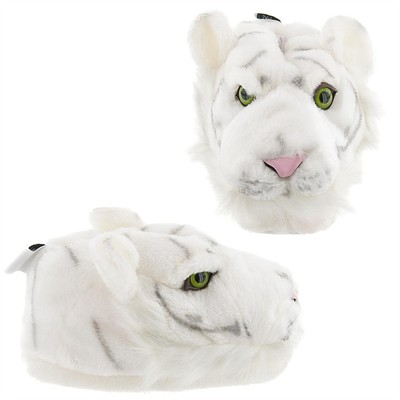 White Tiger Animal Slippers for Women, Men and Kids