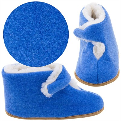 Royal Blue Bootie Slippers for Women
