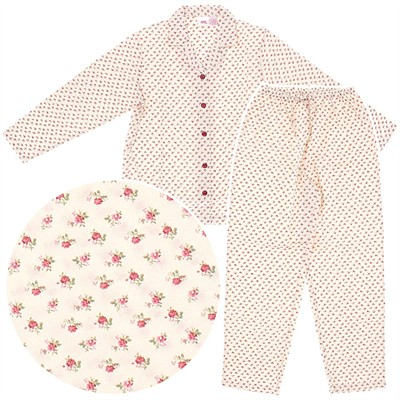 Floral Flannel Pajamas for Women