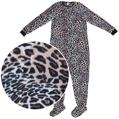 Leopard Footed Pajamas for Women