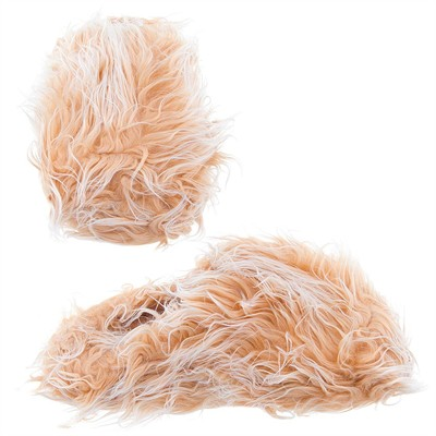 Beige Fuzzy Slippers for Women