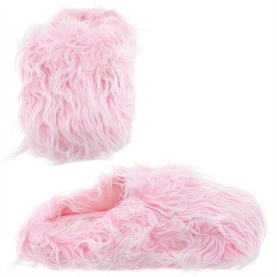 Light Pink Fuzzy Slippers for Women