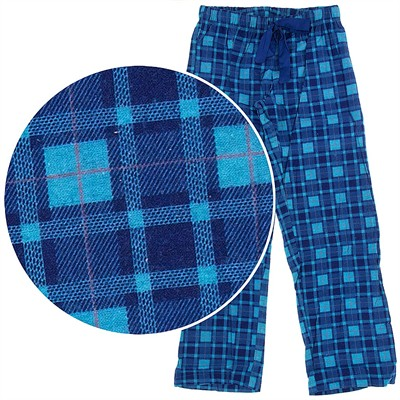 Blue Check Pajama Pants for Women