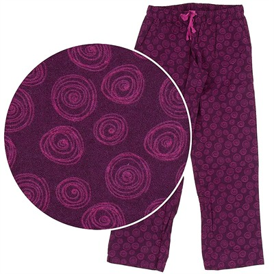 Magenta Rosebud Pajama Pants for Women