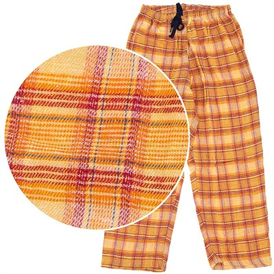 Orange and Yellow Plaid Pajama Pants for Women