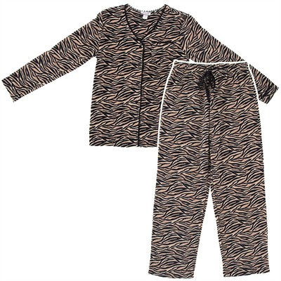 Zebra Fleece Pajamas for Women