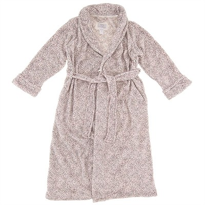 Oscar de la Renta Pink and Gray Bathrobe for Women