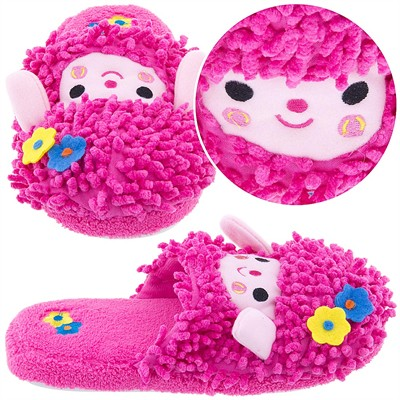 Fuchsia Sheep Animal Slippers for Women