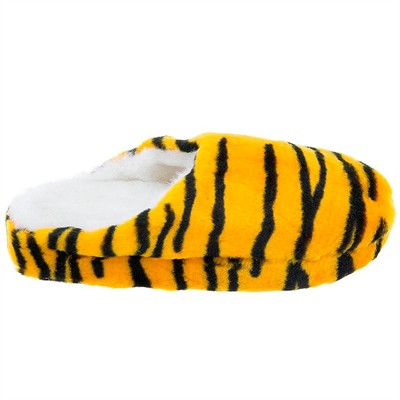 Orange Tiger Clog Slippers for Women