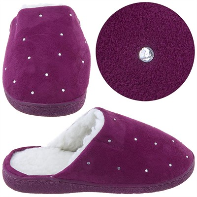 Harve Benard Fuchsia Rhinestone Slippers for Women