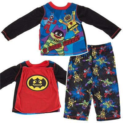 Yo Gabba Gabba Pajamas with Cape for Toddler Boys