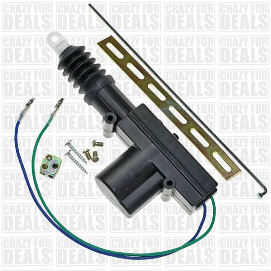 Universal car power door lock actuator 12 volt motor ebay for 12vdc door lock actuator