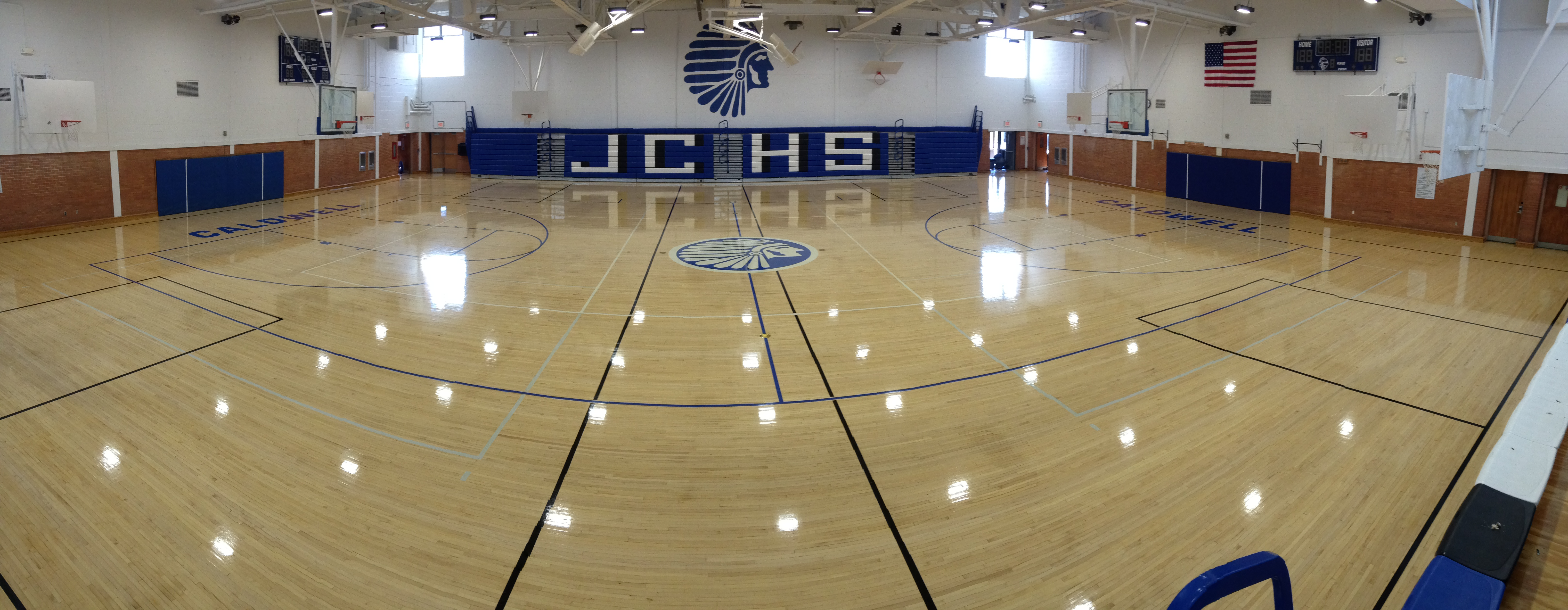 floor addition lapse high cooper graphics flooring gym lc school tuesday isd time lubbock