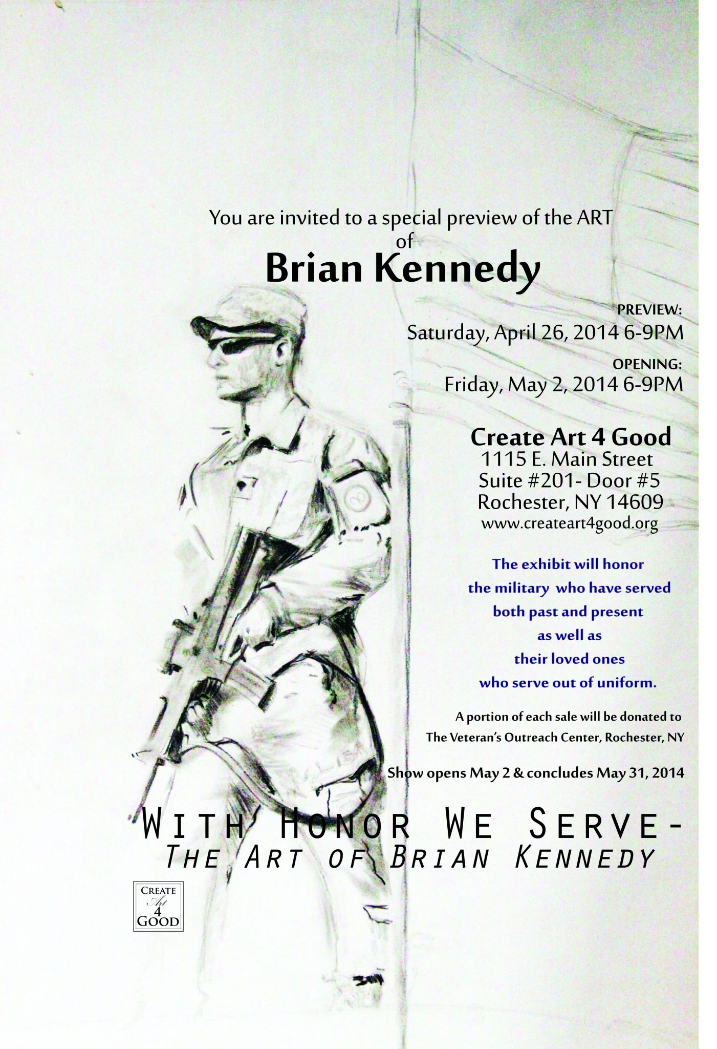 With Honor We Serve Invitation