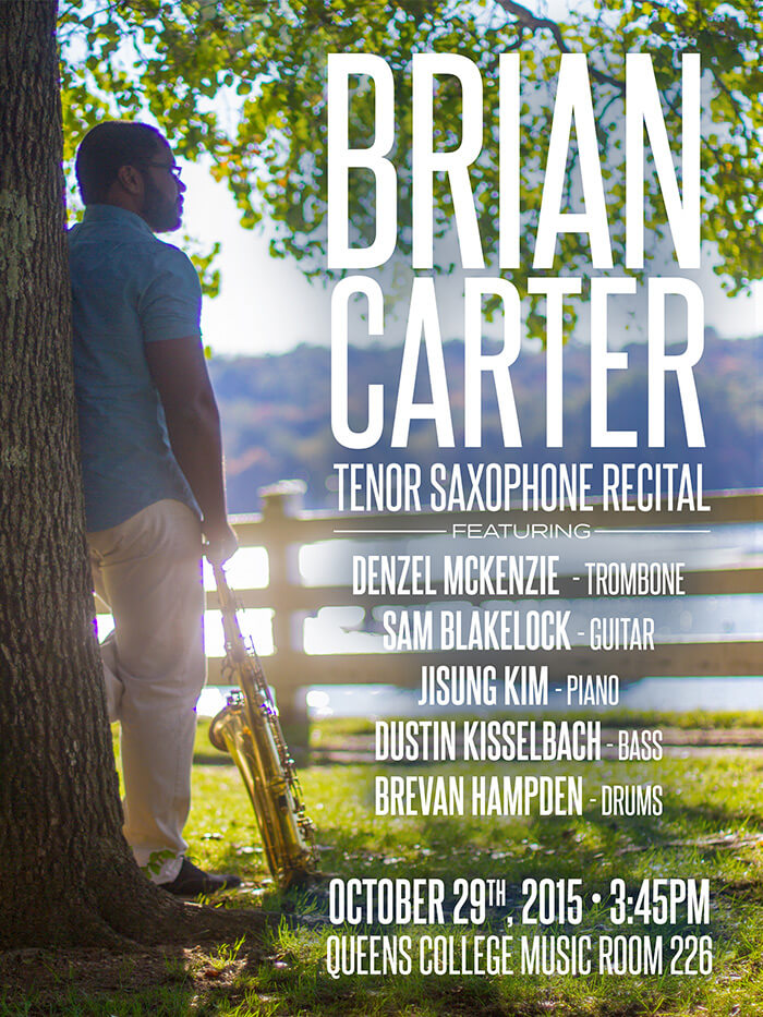 Brian Carter Tenor Saxophone Recital