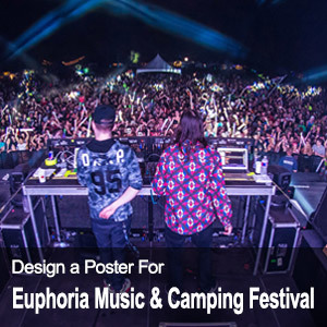 Design a Poster for the Euphoria Music and Camping Festival