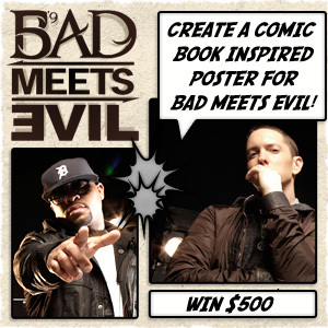 Design a Comic Book-Style Poster for Bad Meets Evil
