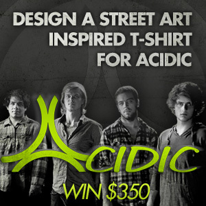 Design a Street Art-Inspired T-Shirt for ACIDIC
