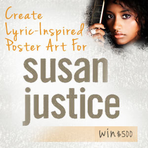 Create Lyric-Inspired Poster Art for Susan Justice