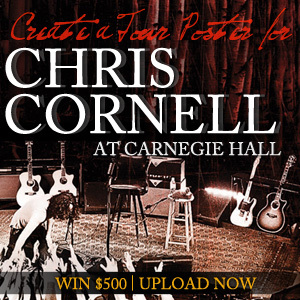 Design a Poster for Chris Cornell's 'Songbook' and Performance at Carnegie Hall