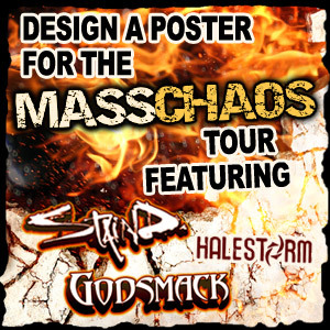 Design A Tour Poster For The Mass Chaos Tour Featuring Staind, Godsmack and Halestorm