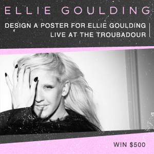Design a Show Poster for Ellie Goulding